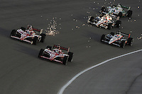 Dario Franchitti, Scott Dixon, Will Power, Ryan Briscoe, Tony Kanaan, Cafes do Brasil Indy 300, Homestead Miami Speedway, Homestead, FL USA,10/2/2010