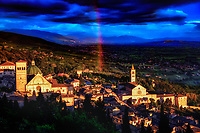 &quot;Rainbow of God shines Between San Rufino and St. Clare of Assisi&quot;...<br />