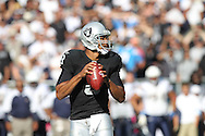 OAKLAND, CA - OCTOBER 10: Jason Campbell #8 of the Oakland Raiders drops back to pass against the San Diego Chargers at Oakland-Alameda County Coliseum on October 10, 2010 in Oakland, California. (Photo by Tom Hauck) Player:Jason Campbell