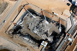 CANADA ALBERTA FORT MCMURRAY 10MAY07 - Detail view of Suncor site north of Fort McMurray, Alberta, Canada. The Alberta Tar Sands are the largest deposits of their kind in the world and their production is the single largest contributor to Canada's greenhouse gas emissions...Alberta's tar sands are currently estimated to contain a crude bitumen resource of 315 billion barrels, with remaining established reserves of almost 174 billion barrels, thus making Canada's oil resources ranked second largest in the world in terms of size...The industry has brought wealth and an economic boom to the region but also created an environmental disaster downstream from the Athabasca river, polluting the lakes where water and fish are contaminated. The native Indian tribes of the Mikisew, Cree, Dene and other smaller First Nations are seeing their natural habitat destroyed and are largely powerless to stop or slow down the rapid expansion of the oil sands development, Canada's number one economic driver...jre/Photo by Jiri Rezac / WWF-UK..© Jiri Rezac 2007..Contact: +44 (0) 7050 110 417.Mobile: +44 (0) 7801 337 683.Office: +44 (0) 20 8968 9635..Email: jiri@jirirezac.com.Web: www.jirirezac.com..© All images Jiri Rezac 2007 - All rights reserved.