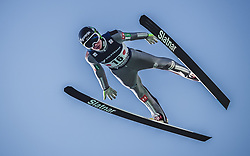 30.09.2018, Energie AG Skisprung Arena, Hinzenbach, AUT, FIS Ski Sprung, Sommer Grand Prix, Hinzenbach, im Bild Anze Lanisek (SLO) // Anze Lanisek of Slovenia during FIS Ski Jumping Summer Grand Prix at the Energie AG Skisprung Arena, Hinzenbach, Austria on 2018/09/30. EXPA Pictures © 2018, PhotoCredit: EXPA/ JFK