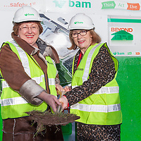 Minister of Education and Science, Ms Jan O'Sullivan, TD, and Ms. Margaret O'Brien, Principle of St. Joseph's Secondary School, Tulla, at the sod turning ceremony of the New Secondary School in Tulla.