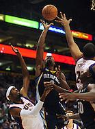 Nov. 5 2010; Phoenix, AZ, USA; Memphis Grizzlies guard Tony Allen (9) puts up a shot during the first half against Phoenix Suns forward Hakim Warrick (21) at the US Airways Center. Mandatory Credit: Jennifer Stewart-US PRESSWIRE.