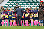 Prince Harry with a girls rugby team before the RBS 6 Nations match at Twickenham Stadium, Twickenham<br /> Picture by Andrew Tobin/Focus Images Ltd +44 7710 761829<br /> 21/03/2015