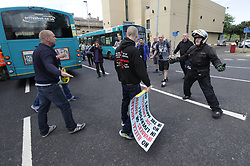 © Licensed to London News Pictures . 03/06/2017 . Liverpool , UK . Far-right street protest movement , the English Defence League ( EDL ) , hold a demonstration in Liverpool , opposed by anti-fascists , including Unite Against Fascism ( UAF ) . Photo credit: Joel Goodman/LNP