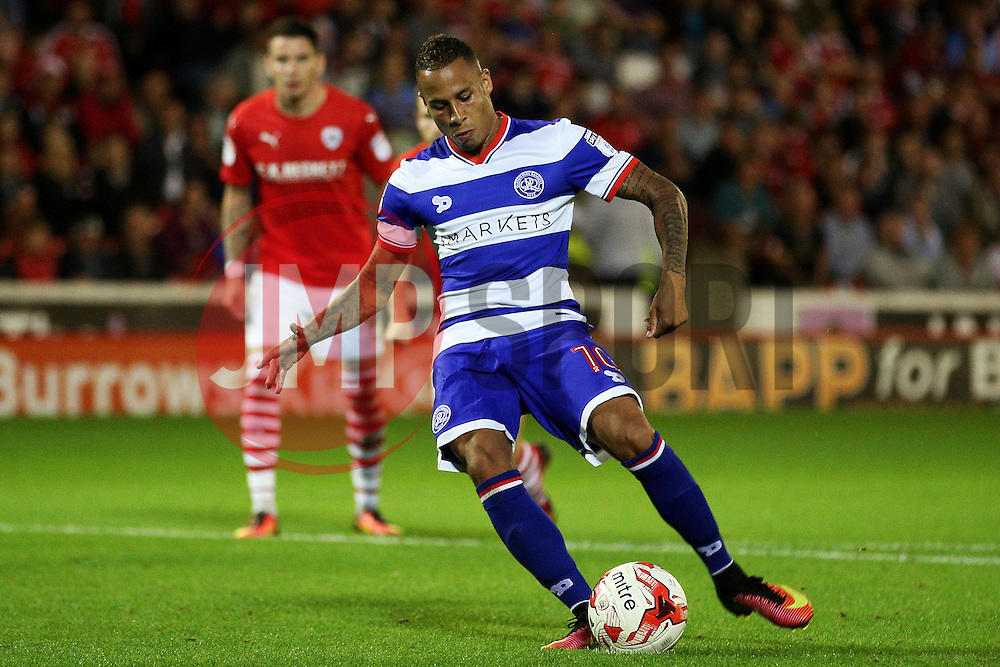 Tjarron Chery of Queens Park Rangers scores the equalising goal to make it 1-1 - Mandatory by-line: Matt McNulty/JMP - 17/08/2016 - FOOTBALL - Oakwell Stadium - Barnsley, England - Barnsley v Queens Park Rangers - Sky Bet Championship