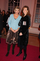 Left to right, BARONESS BEE VAN ZUYLEN and SUSAN SINGER at a 'A Night in Cartier Paradise' to celebrate a new collection of jewellery by Cartier, held at The orangery, Kensington Palace, London W8 on 25th October 2005.<br /><br />NON EXCLUSIVE - WORLD RIGHTS