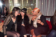LEAH WELLER; LORRAINE ANGLISS; DEE C. LEE, The launch screening of ÔAnimal CharmÕ  and ÔSusie LovittÕ - W hotel leicester sq. London. 31 January 2012.<br /> LEAH WELLER; LORRAINE ANGLISS; DEE C. LEE, The launch screening of 'Animal Charm'  and 'Susie Lovitt' - W hotel leicester sq. London. 31 January 2012.