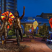 Children's Hospital in Oklahoma City photographed by David Cobb Photography, Architect Miles and Associates,Bronze Statue Artist Matthew Placzek