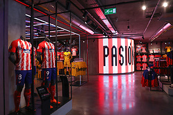 May 3, 2018 - Madrid, Spain - Genaral view of the official Atletico de Madrid merchandise shop at Metropolitano stadium ahead of the UEFA Europa League, semi final, 2nd leg football match between Atletico de Madrid and Arsenal FC on May 3, 2018 at Metropolitano stadium in Madrid, Spain (Credit Image: © Manuel Blondeau via ZUMA Wire)