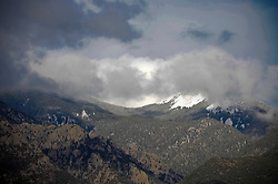 Snow cap on Taos Mountain in New Mexico