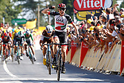 Arrival, Daniel Martin (IRL - UAE Team Emirates) during the 105th Tour de France 2018, Stage 6, Brest - Mur de Bretagne Guerledan (181km) in France on July 12th, 2018 - Photo Luca Bettini / BettiniPhoto / ProSportsImages / DPPI