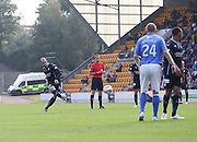 Dundee's Gary Harkins fires in a free kick -  St Johnstone v Dundee, SPFL Premiership at McDiarmid Park<br /> <br />  - &copy; David Young - www.davidyoungphoto.co.uk - email: davidyoungphoto@gmail.com