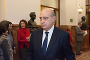Jorgue Fernandez Diaz, Minister of Interior on arrival at the Congress of Deputies