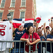 July 25, 2015, Cooperstown, NY:<br /> Fans cheer during the Hall of Famers parade during the 2015 Hall of Fame weekend at the National Baseball Hall of Fame in Cooperstown, New York Saturday, July 25, 2015.<br /> (Photos by Billie Weiss/Boston Red Sox)