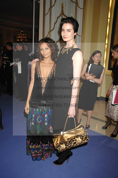 Left to right, THANDIE NEWTON and ERIN O'CONNOR at the 10th Anniversary Party of the Lavender Trust, Breast Cancer charity held at Claridge's, Brook Street, London on 1st May 2008.<br />