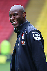 Benik Afobe of Bournemouth arrives at Vicarage Road - Mandatory byline: Jason Brown/JMP - 27/02//2016 - FOOTBALL - Vicarage Road - Watford, England - Watford v Bournemouth - Barclays Premier League