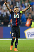 Joie Thiago Silva - 30.05.2015 - Auxerre / Paris Saint Germain - Finale Coupe de France<br />