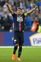 Joie Thiago Silva - 30.05.2015 - Auxerre / Paris Saint Germain - Finale Coupe de France<br />Photo : Andre Ferreira / Icon Sport