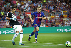 August 20, 2017 - Barcelona, Spain - Antonio Adan and Gerard Deulofeu during La Liga match between F.C. Barcelona v Alaves, in Barcelona, on September 10, 2016. Photo: Edi Capmany/Urbanandsport/Nurphoto  (Credit Image: © Urbanandsport/NurPhoto via ZUMA Press)