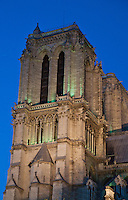Paris, Notre Dame - Tower at night