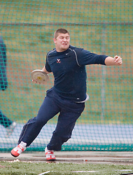 Virginia Cavaliers Eric Pickle on an attempt in the discus throw.  Pickle placed 10th overall in the competition with a throw of 42.9m.  The University of Virginia Track and Field team hosted the 2007 Lou Onesty Invitational Track Meet at the University of Virginia in Charlottesville, VA on April 14, 2007.