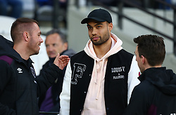 April 16, 2018 - London, England, United Kingdom - West Ham United's Winston Reid during the pre-match warm-up .during English Premier League match between West Ham United and Stoke City at London stadium, London, England on 16 April 2018. (Credit Image: © Kieran Galvin/NurPhoto via ZUMA Press)