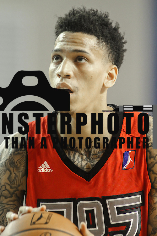Raptors 905 Forward MICHALE KYSER (12) attempts a free throw in the first half of a NBA D-league regular season basketball game between the Delaware 87ers and the Raptors 905 Friday, Jan. 15, 2016. at The Bob Carpenter Sports Convocation Center in Newark, DEL.