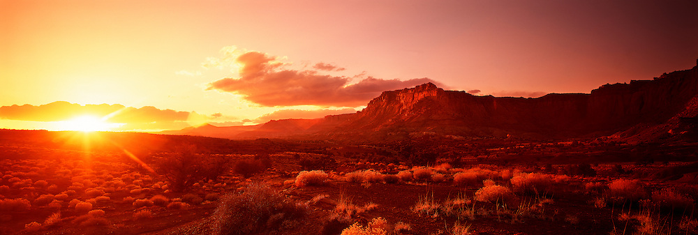 Richard Furhoff_999001_Capitol Reef.tif.Sunset, Capitol Reef National Park, Utah, USA, .