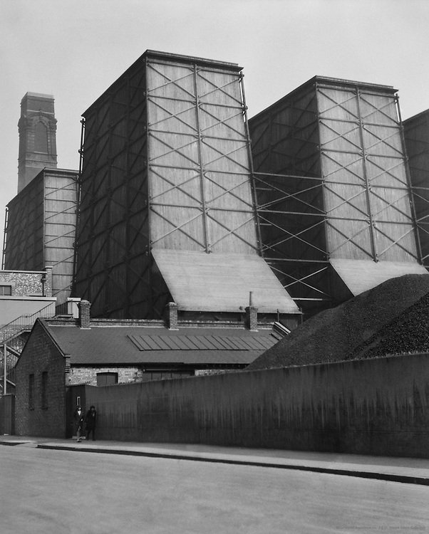 Chimneys of the London Brewery in St. John's Wood, London, 1929