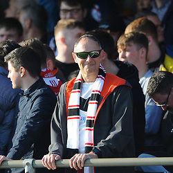 TELFORD COPYRIGHT MIKE SHERIDAN 23/2/2019 - AFC Telford fans during the FA Trophy quarter final fixture between Solihull Moors and AFC Telford United at the Automated Technology Group Stadium