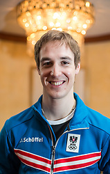 23.02.2014, Marriott, Wien, AUT, Sochi 2014, Johannes Duerr, im Bild der Österreichische Langläufer Johannes Dürr, der heute EPO Doping zugegeben hat. Er wurde während eines Trainings in Obertilliach positiv getestet. Bild aufgenommen am 28.01.2014 während der ÖOC Einkleidung // the Austrian cross-country skier John Duerr, who has conceded today EPO doping. He was tested positive during a training session in Obertilliach, Austria. Image taken on 01.28.2014 during the outfitting of the Austrian National Olympic Committee for Sochi 2014 at the  Marriott in Vienna, Austria on 2014/02/23. EXPA Pictures © 2014, PhotoCredit: EXPA/ JFK