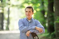 Patrick McKenna senior portraits.  ©2015 Karen Bobotas Photographer