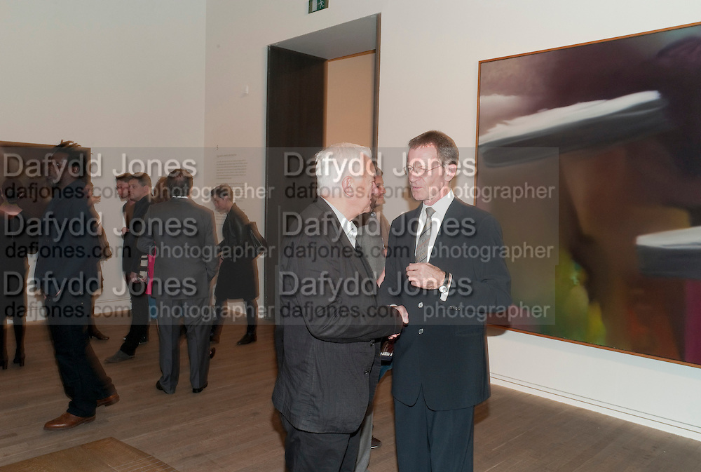 MICHAEL CRAIG-MARTIN; SIR NICHOLAS SEROTA, Gerhard Richter: Panorama. Tate Modern. London. 4 October 2011. <br /> <br />  , -DO NOT ARCHIVE-&copy; Copyright Photograph by Dafydd Jones. 248 Clapham Rd. London SW9 0PZ. Tel 0207 820 0771. www.dafjones.com.