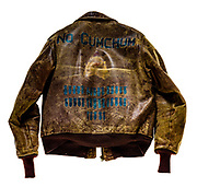 A-2 jacket that belonged to Bud Pochter, assigned to the 7th Bomb Squadron, 34th Bomb Group.