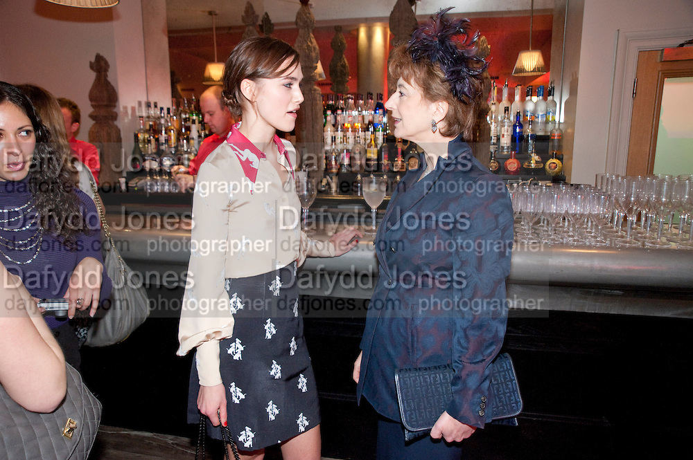 kEIRA KNIGHTLEY; MAUREEN LIPMAN, The Society of London Theatre lunch for all the nominees for the 2010 Laurence Olivier Awards. Haymarket Hotel, 1 Suffolk Place, London, 2 March 2010 *** Local Caption *** -DO NOT ARCHIVE-© Copyright Photograph by Dafydd Jones. 248 Clapham Rd. London SW9 0PZ. Tel 0207 820 0771. www.dafjones.com.<br /> kEIRA KNIGHTLEY; MAUREEN LIPMAN, The Society of London Theatre lunch for all the nominees for the 2010 Laurence Olivier Awards. Haymarket Hotel, 1 Suffolk Place, London, 2 March 2010