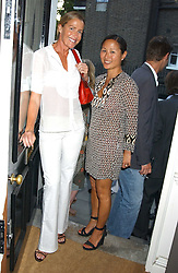 Left to right, INDIA HICKS and LILLIAN VON STAUFFENBERG  at a party to launch the Acqualuna jewellery exhibition at Allegra Hicks, 28 Cadogan Place, London on 22nd June 2005.<br /><br />NON EXCLUSIVE - WORLD RIGHTS
