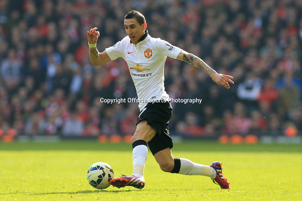 22nd March 2015 - Barclays Premier League - Liverpool v Manchester United - Angel Di Maria of Man Utd - Photo: Simon Stacpoole / Offside.