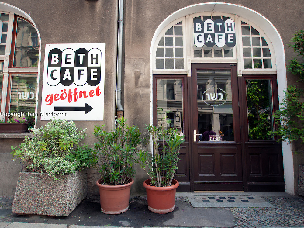 Exterior view of Jewish Beth Cafe in Mitte Berlin Germany