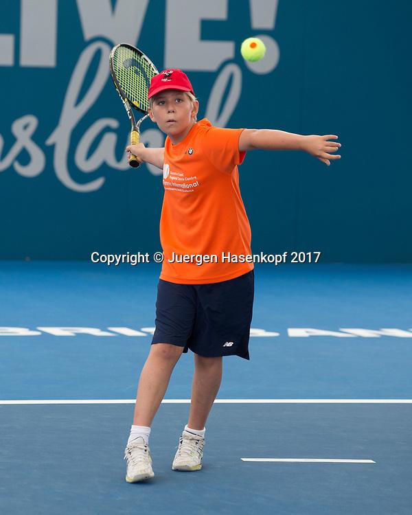 Kinder Tennis<br /> <br /> Tennis - Brisbane International  2017 - ITF -  Pat Rafter Arena - Brisbane - QLD - Australia  - 4 January 2017. <br /> &copy; Juergen Hasenkopf