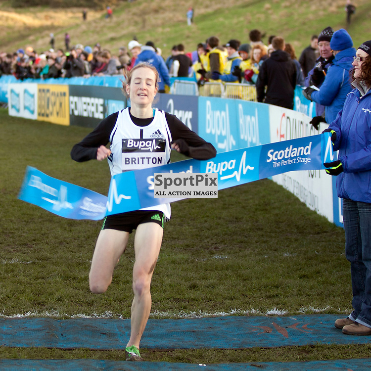 Fionnuala Britton from Ireland Wins in the BUPA 6Km Womens Cross Country run at Holyrood in Edinburgh 21mins31sec
