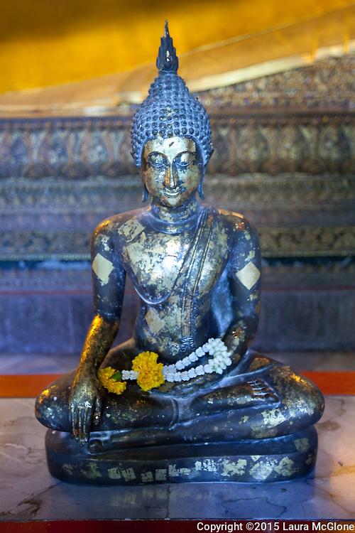 Small Buddha at Wat Po Temple, Bangkok Thailand
