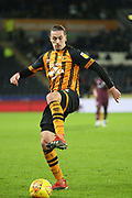 Hull City midfielder Jackson Irvine (16) on the ball during the EFL Sky Bet Championship match between Hull City and Swansea City at the KCOM Stadium, Kingston upon Hull, England on 22 December 2018.