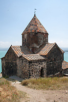 sevanavank monastery on the lake sevan peninsula in armenia