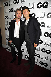 Left to right, CHRISTOPHER BAILEY and ORLANDO BLOOM at the GQ Men of the Year Awards held at the Royal Opera House, London on 2nd September 2008.<br /> <br /> NON EXCLUSIVE - WORLD RIGHTS