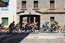 The race gets strung out during Stage 10 of 2019 Giro Rosa Iccrea, a 120 km road race from San Vito al Tagliamento to Udine, Italy on July 14, 2019. Photo by Sean Robinson/velofocus.com