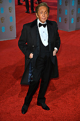 © Licensed to London News Pictures. 14/02/2016.  London, UK. VALENTINO arrives on the red carpet at the EE British Academy Film Awards 2016  Photo credit: Ray Tang/LNP
