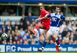 BIRMINGHAM, ENGLAND - Sunday, April 4, 2010: Liverpool's David Ngog misses a late chance against Birmingham City during the Premiership match at St Andrews. (Photo by David Rawcliffe/Propaganda)
