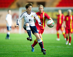 LLANELLI, WALES - Saturday, September 15, 2012: Scotland's Megan Sneddon in action against Wales during the UEFA Women's Euro 2013 Qualifying Group 4 match at Parc y Scarlets. (Pic by David Rawcliffe/Propaganda)