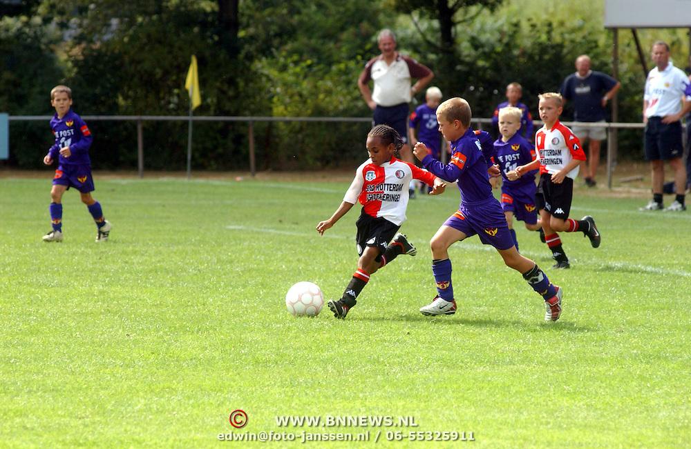 SV Victoria Hilversum , jeugd voetbal toernooi Feyenoord - Kontich F.C